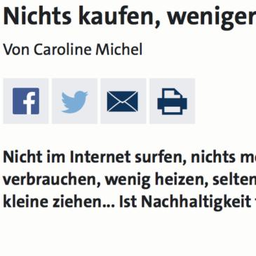 WDR3/WDR5 Lebenszeichen: Nichts kaufen, weniger verbrauchen